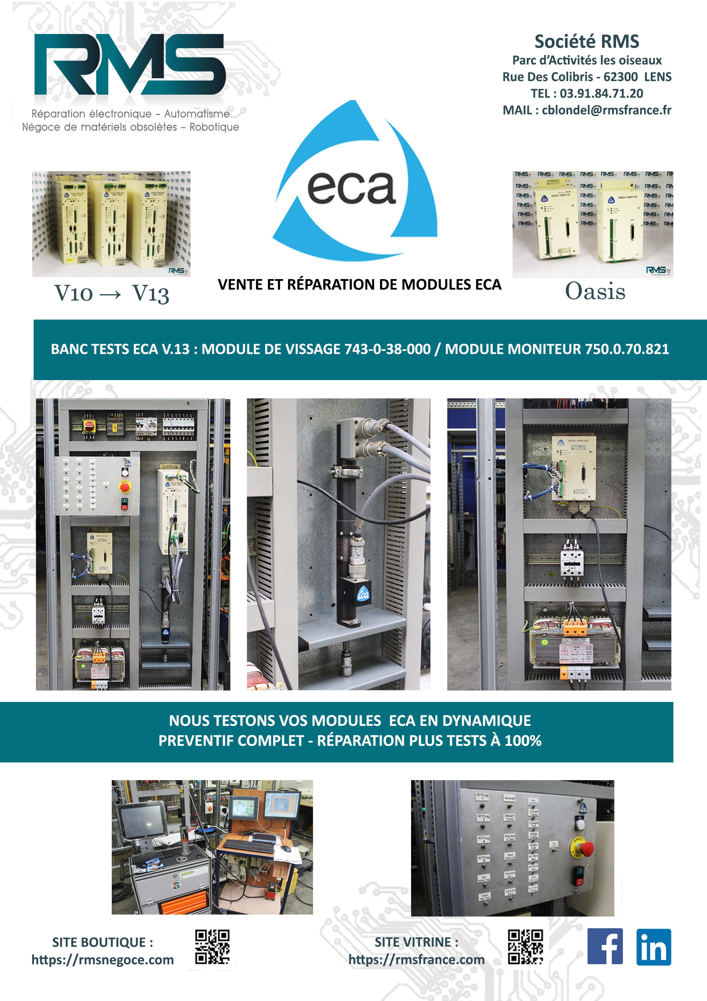 ECA - RMSNEGOCE - MODULE VISSAGE ECA - MODULE BROCHE ECA - RMSNEGOCE