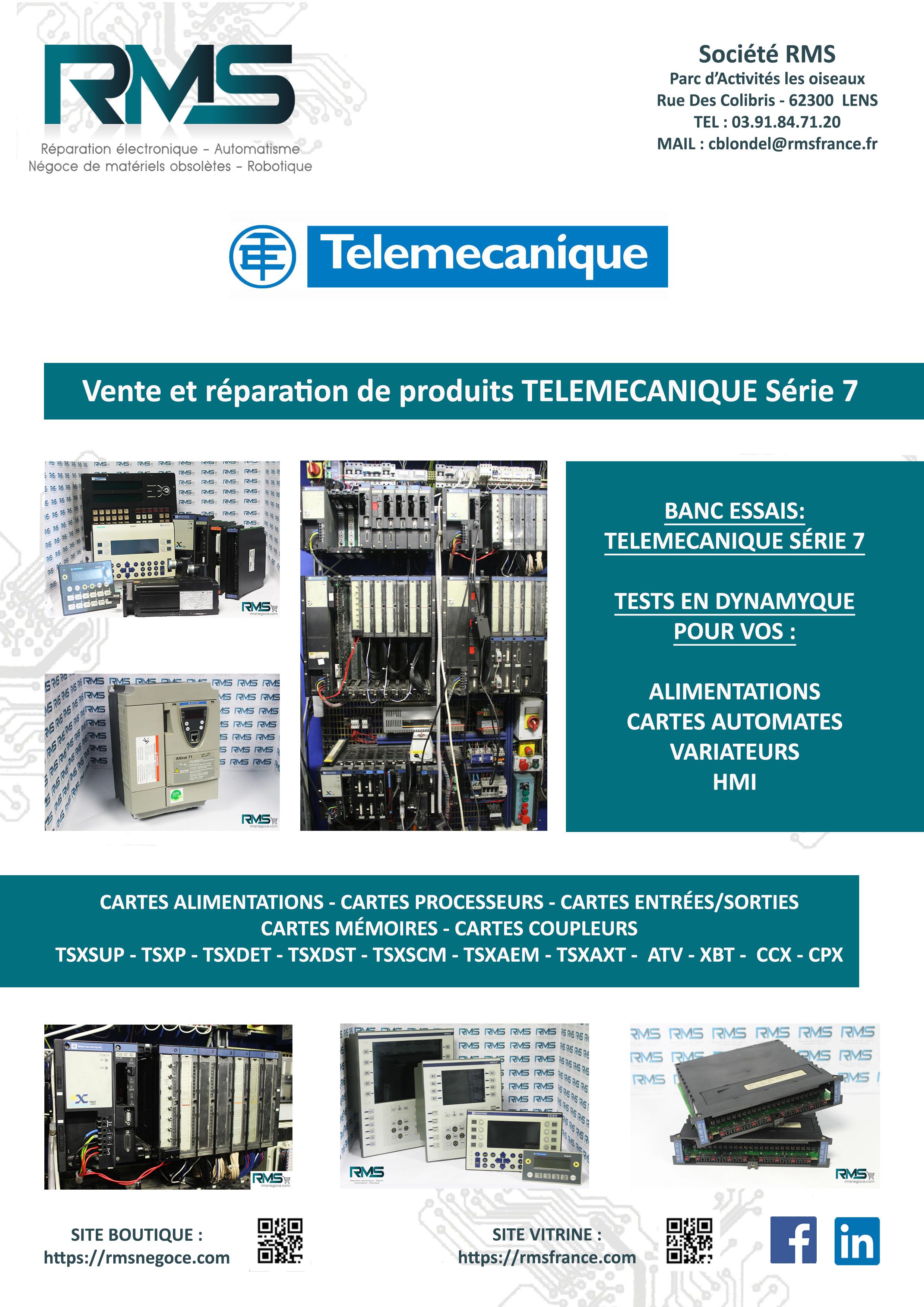 telemecanique - serie 7 - rmsnegoce - vente telemecanique - reparation telemecanique